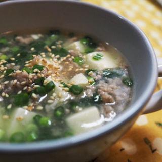 豆腐と生姜のスープ